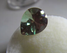 RARE 3.13 CTS. 11 X 9 PEAR SHAPED GREEN ANDESINE/LABRADORITE w/ RED FLASH