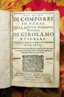 Del modo di comporre in versi nella lingua italiana, trattato. nel quale va comp
