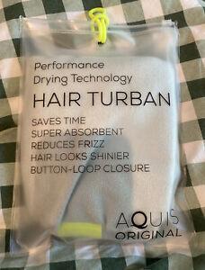 AQUIS - Original Hair Turban Perfect Hands-Free Microfiber Hair Drying Sea Gl...