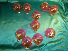 10 alte Weihnachtskugeln DDR Christbaumkugel Glas rosa orange Weihnachtsmann GDR