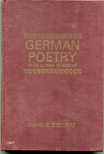 GERMAN POETRY FROM LUTHER TO BRECHT -- STEWART - 1964  RYERSON PRESS