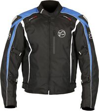 Buffalo Spyker Black Blue Textile Waterproof Motorcycle Jacket New £89.99!!