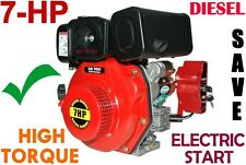 ENGINE 7-HP, TOOL POWER Diesel unit with electric start, Straight Shaft = NEW+++