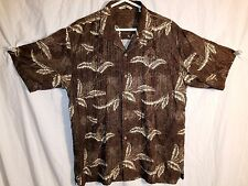 Tommy Bahama Brown Floral Men's Large 86% Silk 14% Wool EUC # 266A