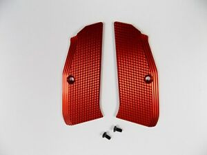 ZENDL® CZ 75 High Quality Grooved Grips - Made in Czech Republic - RED