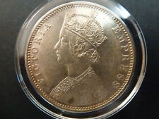 1900 BRITISH INDIA QUEEN VICTORIA ONE RUPEE SILVER COIN HIGH GRADE