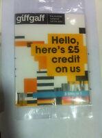 Giffgaff NANO/ Micro/Standard SIM card Free £5 Credit / gifgaf sims giff gaff o2