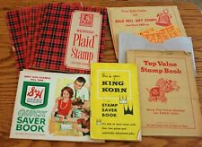 Lot of 1960's Trading Books and Savings Stamps: King Korn, S&H Green, more