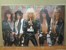 vintage Warrant poster original rock and roll  4727