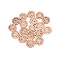 100PCs 2-hole Wooden Buttons Handmade With love Scrapbooking & Sewing  ~%