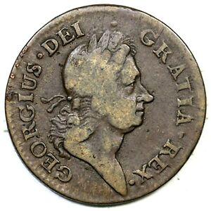 1722 Rosa Americana Penny Colonial Copper Coin 1p