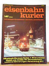 Eisenbahn Kurier 1987 Januar DB aktuell Die neuen Farben