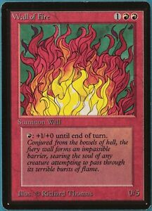 Wall of Fire Beta NM Red Uncommon MAGIC THE GATHERING CARD (ID# 229401) ABUGames
