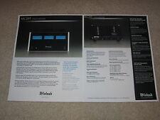 McIntosh MC205 Amplfiier Brochure, 2 pages, 2005, Specs, Articles, Info