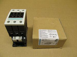 1 NIB SIEMENS 3RT1035-3AK60 NON REVERSING CONTACTOR 40 AMP 120V 40A 3P (6 AVAIL)