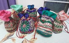 Wholesale 10 Pcs Vintage Wedding Favour Jewellery Packing Bag Handmade Potli