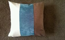 """Why shop  Next 4 X 18"""" FAUX SUEDE BROWN  TEAL  CREAM FAUX SUEDE CUSHION COVERS"""