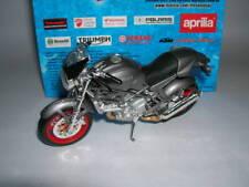 Maisto Ducati Monster S4 S 4 Gris Plata, 1:18 Moto Moto Moto
