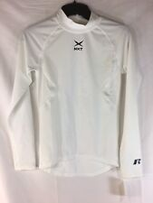 Russell White Dri Power Stretch Fit Athletic Shirt Youth Large