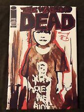 ORIGINAL ART- THE WALKING DEAD 109 Blank Variant Comic book CANVAS PRINT Signed