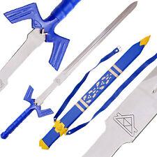"""42"""" LEGEND ZELDA REAL STEEL MASTER SWORD LEATHER SHEATH costume link knife C130"""