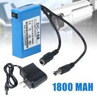 Mini Portable Rechargeable DC-168 12V 1800mAh Li-ion Battery Pack FR CCTV Camera