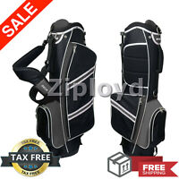 Nitro Lightweight Stand Golf Stand Bag, Black/Silver Dual Pro Carry Strap New