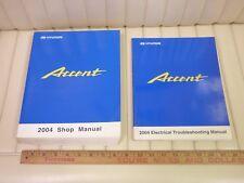 2004 HYUNDAI ACCENT Factory Shop Service Manual Set 2-Volume w/ Electrical N/R