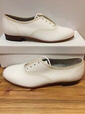 Mr. Stomper Size 7.5 B MENS Clogging Tap Dance Shoes. White