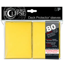 80 Ultra Pro Matte ECLIPSE Deck Protector MTG Pokemon Card Sleeves 85112 Yellow
