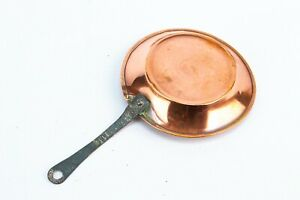 Miniature Copper Frying Pan Salesman Model  Doll House Cooking Tiny Vintage