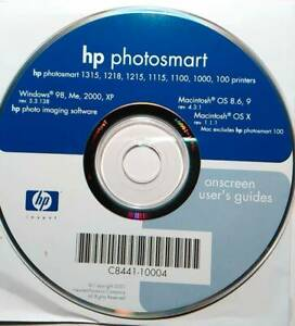HP Photosmart 1315 1218 1215 1115 1100 1000 100 Software CD Windows Mac