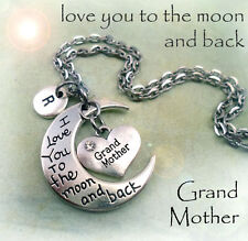 Grandmother I Love You to the Moon and Back Necklace * Grandmother Gift