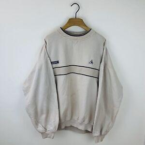 Vintage 90s Le Coq Sportif Crew Neck Sweatshirt Size Men's Medium