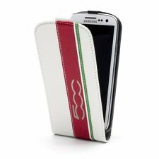 Fiat 500 back clipon funda FLIP CASE bolso para Samsung Galaxy s3 i9300 en White