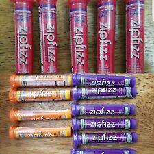Zipfizz Fruit Punch Grape Orange Energy Drink Mix 18 Lot Tubes Vitamins Variety