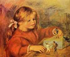 Signe Métallique Claude Renoir jouant 1906 A4 12x8 aluminium