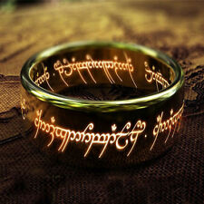 Lord of the Rings Stainless Steel Polished Boy Gold Fashion Jewelry Charm Rings