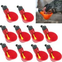 20pcs Automatic Drinker Cup Poultry Plastic Chicken Waterer Bird Water Feeder