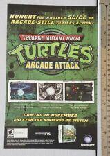 Teenage Mutant Ninja Turtles Arcade Attack RARE Print Advertisement