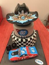 NASCAR SUPERSTAR RICHARD PETTY'S 80TH BIRTHDAY CAKE 8X10 PHOTO W/BORDERS