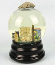 Saks Fifth Avenue Musical Snowglobe Fort Myers, Florida w Manatee Retired