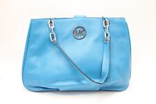 Michael Kors Fulton Chain Large Tote Genuine Leather (Summer Blue)