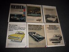 72 Vintage Car Ads American Made Cars 1960s / 1970s