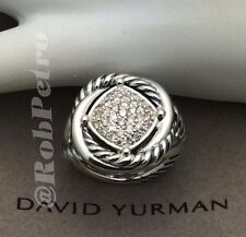 David Yurman Sterling Silver Infinity Ring w/ Pave Diamonds - Size 7