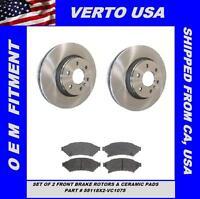 Front Brake Rotors & Ceramic Pads For Chevrolet Uplander 2006 2007 2008 2009