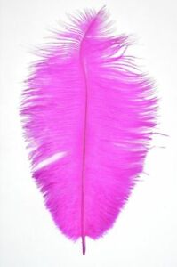 5 HOT PINK - Ostrich Feathers - 25cm to 30cm Long