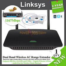 Linksys RE6500 Universal DualBand AC1200 Wi-Fi Range Extender 4 Gigabit Ethernet