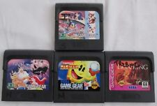 Lot of 4 Games for Sega Game Gear Pacman Ariel Lion King Sonic 2 Not Tested