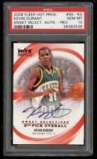 2008 Fleer Hot Prospects Sweet Selections Red Kevin Durant AUTO /5 PSA 10 POP 1